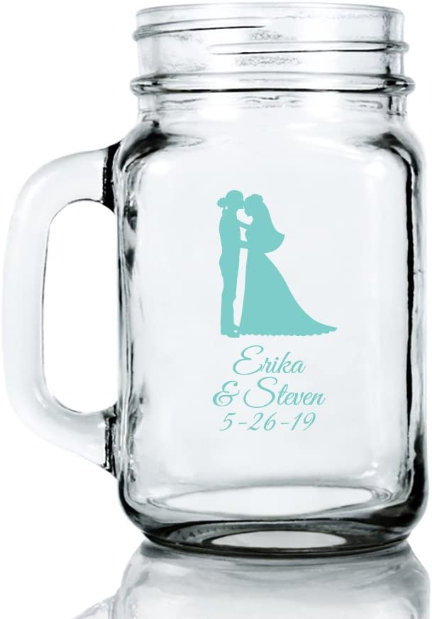 Personalized Color Printed 16-ounce Mason Mug - Bride Ranking TOP12 Groom Credence