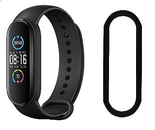 Xiaomi Mi Smart Band 5 - Black with Watch Screen Protector for Xiaomi Mi Smart Band 5 - Black