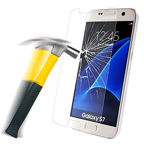etec24® Samsung Galaxy S7 Schutzglas Hartglas Panzerglas Folie Echtglas Glas 100{11913dd7f2fced789848d9328469bb6de3f7a83cbfd0c183f9df887c4ad48e45} Displayschutz Schutzfolie Panzerfolie Displayschutzfolie Premium 0,3mm Tempered Glass Screen Protector (für Samsung Galaxy S7)