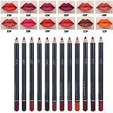 Lápiz delineador de labios, 12 colores/juego Lápiz delineador de ojos sin irritación Kit de delineador de labios de larga duración, para niñas y mujeres