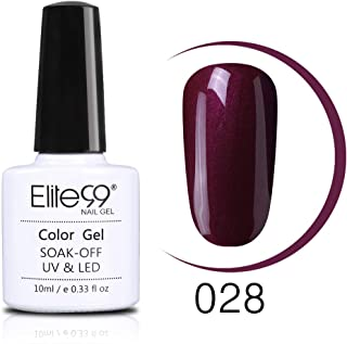 Elite99 10ml Wine Red Color Series Nail Polish Semi Permanent Nail Gel Varnish Soak Off UV LED Gel Lacuqer Colorful Polishes (JH028)