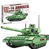 HYZM Tanque de bloques de construcción, 1020 piezas, T-14 Armata, tanque militar WW2, juguete compatible con la técnica Lego.