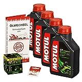 Motul 10W-40 Öl + HiFlo Ölfilter für Honda XL 1000 V Varadero, 99-02, SD01 SD02 - Ölwechselset inkl. Motoröl, Racing Filter, Dichtring