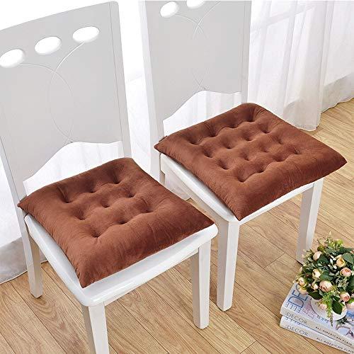 Juego de 2 cojines elásticos para silla de jardín, terciopelo gris, suave, para oficina, cocina, sillas, etc