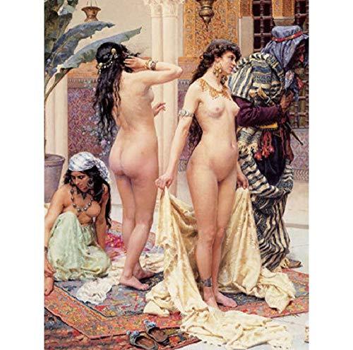 YDPTYANG Adultos Madera Puzzle 1000 Piezas La Chica Desnuda del Mercado De Esclavos Árabes. Niños Juego Clásico Ocio Arte Toys Puzzles