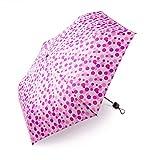 boy ® Regenschirm Für Mädchen und Jungen, Taschenschirm Klein Extra Leicht & Kompakt Reise Taschenschirm, 207g, Wellenpunkt Rosa