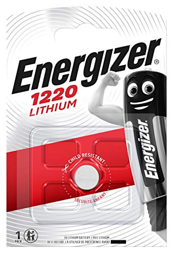 Energizer, batterie a bottone CR1225 BR1225. Confezione da 4 batterie al litio, 3 V