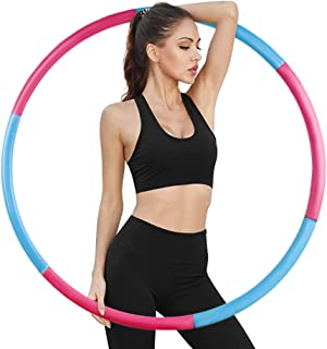 Women Teens Men APPSOLS weighted hula hoops for adults Fitness hoola hoop for Exercise 8 Section Detachable Design-Professional Soft Exercise Hoop for kids Workout and Training