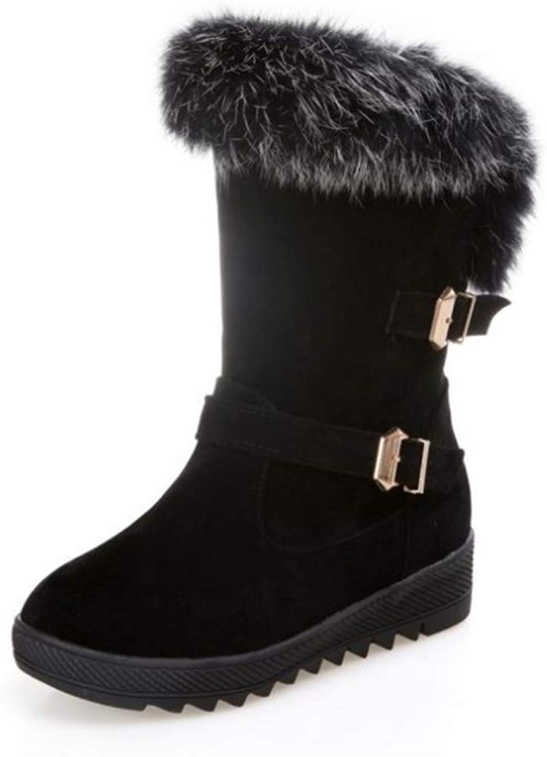 85ba0a426d4a1 Gusha Women's Martin Boots Warm shoes Ankle Boots Snow Boots Casual ...