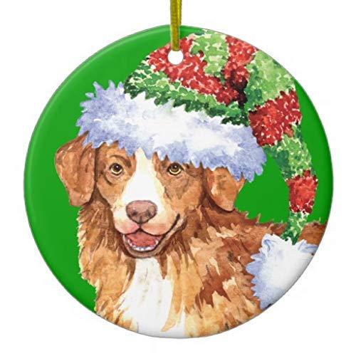 None-brands 2020 Christmas Ornaments, Happy Howliday Toller Ceramic Christmas Tree Ornaments,2020 Christmas Ornaments,Christmas Memory Keepsake Ornament,for Kids,Girls,Women,Quarantine Keepsake