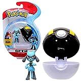 Pokémon Clip 'N' Go Riolu y Pokéball - Contiene 1x Figura de 5 cm y 1x Ultra Ball - Nueva Ola 2021 - Licencia Oficial
