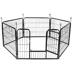 Display4top Welpenauslauf,Welpenlaufstall Freilaufgehege Hundelaufstall Tierlaufstall