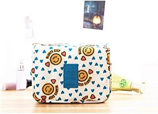 Portable Waterproof Cosmetic Makeup Toiletry Travel Hanging Organizer Storage Bag Pouch - Smiley Yellow