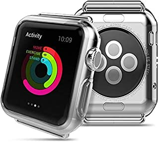 Ultra Thin Soft TPU Gel Clear Protective Cover Case for Apple Watch iwatch 42mm