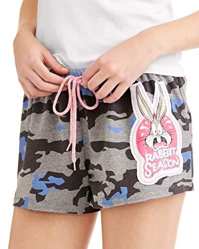 Looney Tunes Damen Pyjama-Boxershorts Bugs Bunny Rabbit Season - Grau - Large / 12-14 US
