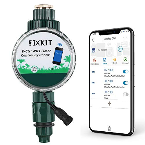 FIXKIT Wassertimer mit Regensensor (Smart WiFi Bewässerungsuhr)