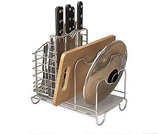 HSWJ Cuisine Rack en Acier Inoxydable de Cuisine en Rack Pot Rack Planche à découper Drain Rack Articles de Cuisine Suppor...