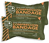 Israeli 6' Compression Bandage [STERILE]: Authentic Compact Design for Emergency Wound Dressing, First Aid and Trauma Kit (2-Pack)