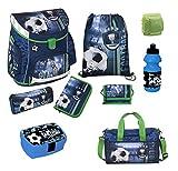 Familando Fußball Schulranzen-Set Scooli Campus FIT 9tlg. mit Brotzeit-Dose, Sport-Flasche, Sporttasche und Regenschutz