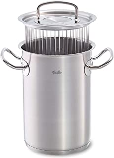Fissler original-profi collection / Olla para espárragos (4,6 litros, 16 cm) de acero inoxidable, apta para cocinas de inducción, gas, vitrocerámica y eléctricas