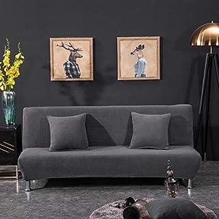 chenbyyao Protector de sofá 155-185 cm, Todo Incluido, en Color Liso con Gris Oscuro,Funda elástica para sofá de 1 2 3 plazas, Cubierta Antideslizante en Tejido elástico Extensible, Protector de sof