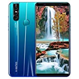 [2019 Upgraded Version] 6.3' Android 9.1 Eight Core 3G Smartphone Dual HD Camera 1G RAM+4GB ROM Touch Screen Unlocked Phone (Blue)