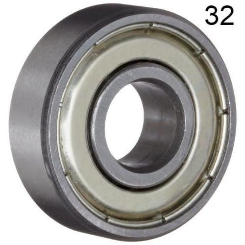 Standard 608 ZZ Set of 10 Metal Sealed Jeremywell 608ZZ-SKT-10 Skateboard Bearing