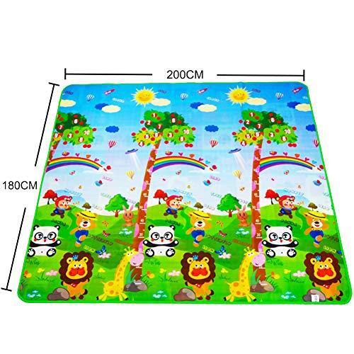 Amyove Baby-Krabbeldecke Playmat Babyspielmatte Spielzeug Für Kindermatte Teppich Gummi Eva Schaum Spielen 4 Puzzles Schaum Teppiche Dropshipping Zoo 2 Meter * 1,8 Meter dick 0,3 cm