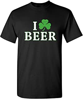 I Clover Beer St Patricks Day Shirt Irish Pats Sarcastic Funny T Shirt