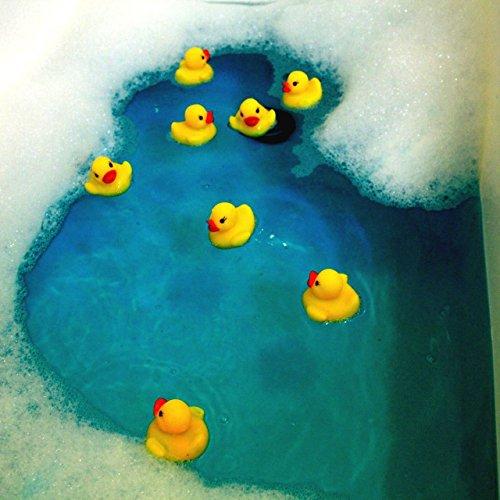 DaoRier 40pcs Juguetes de Goma de Carreras Patos chillones patitos Amarillos Pato de Goma Juguetes de Baño Bebé Bathtime de baño