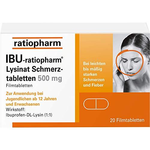 IBU-ratiopharm Lysinat Schmerztabl. 500 mg