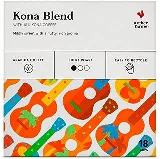 18 K-Cup Archer Farms Keurig Kona Blend, Light Roast Coffee (One Box)