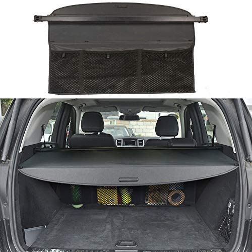 BOPARAUTO Cargo Cover for Mercedes Benz ML Series ML350 Accessories 2012-2015 GLE 2016-2019 Water Proof Rear Trunk Shade Cover