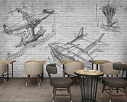 XHXI Abstract Landscape Minimalist Line Gray Plane Home Decor for Living Room Sofa Tv Background Bedroom Wall Decoration 3D Wallpaper Paste Living Room The Wall for Bedroom Mural border-200cm×140cm