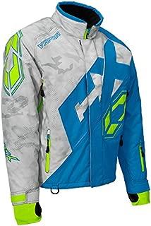 Castle X Vapor Men's Snowmobile Jacket - Alpha Gray/Process Blue/Hi-Vis (XLG)