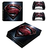 Adventure Games PS4 PRO - Superman - Playstation 4 Vinyl Console Skin Decal Sticker + 2 Controller Skins Set