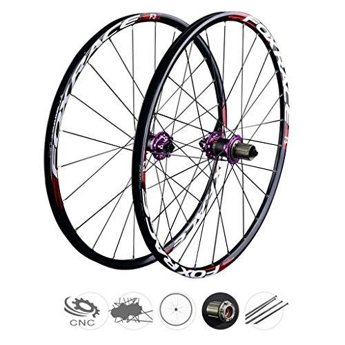 ZNND Carbono Ruedas De Bicicleta, 26 Pulgadas V-Brake MTB Híbrido Ciclismo Wheels Agujero Dto 8 9 10 Velocidad 100mm (Color : B, Tamaño : 26inch)