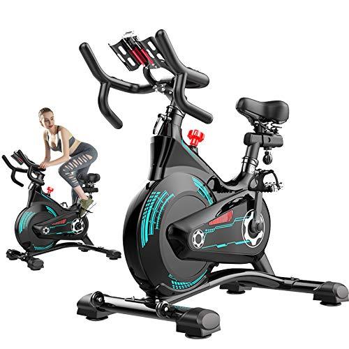 ATGTAOS Bicicleta Estática, Bicicleta de Ciclismo para Interiores con Sillín de Absorción de Impactos, Bicicleta Estacionaria para Entrenamiento Cardiovascular en Casa