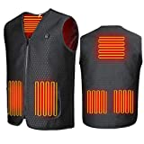 Heated Vest Heating Electric Vest USB Charging Heated Vest Cold-Proof Heating Clothes Washable...