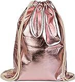 styleBREAKER borsa sportiva dal look metallico, borsa sportiva, zaino, bauletto, unisex 02012117, colore:Oro Rosa metallizzato