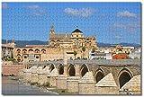 Nicoole España Córdoba Mezquita y Catedral Puente Romano Rompecabezas para Adultos Niños 1000 Piezas Juego de Rompecabezas de Madera para Regalos Decoración del Hogar Recuerdos Especiales de Viaje