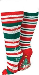 Tobar, Tobar - Calcetines navideños (Talla única), diseño de Rayas, Color Rojo y Verde