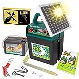 Power XXL B 9.000-S Solar-Weidezaungerät 9V/12V, inkl. 9V Batterie, Megapower, Hocheffektives Solarmodul – sehr Lange Batterielaufzeit, Perfekt für Pferde-, Ponyzaun