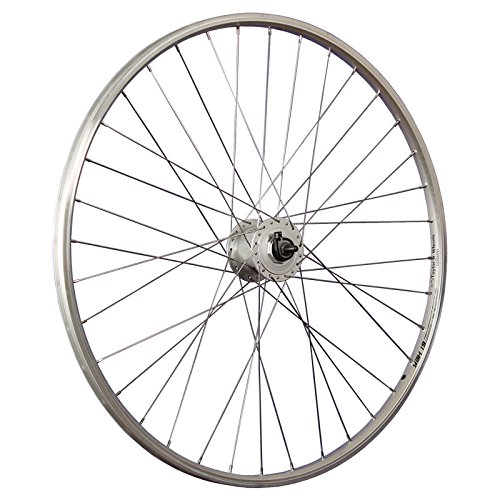 Taylor-Wheels 28 Zoll Vorderrad Laufrad Alu Hohlkammerfelge YAK19 / Shimano DH-C3000 Nabendynamo - Silber