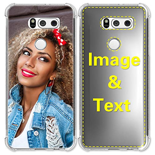 AIPNIS Custom Case for LG V30 Personalized Photo Gift Shock Absorption Soft Clear TPU Cover DIY HD Picture