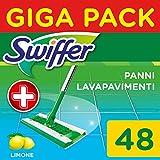 Swiffer Wet Panni Umidi Lavapavimenti per Scopa, Maxi Formato 48 Pezzi, 2 Confezioni da 24...