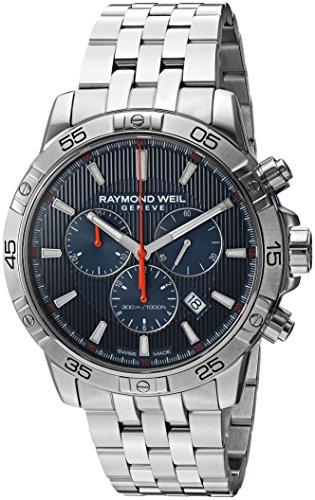 Raymond Weil Herren Chronograph Quarz Uhr mit Edelstahl Armband 8560-ST2-50001