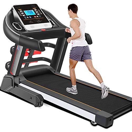 ZJZ Cinta de Correr Profesional, máquina para Caminar Pantalla LCD 18% de Pendiente Inclinación Resistente y Plegable para Sistema de lubricación 12 km/h de hasta 120kg