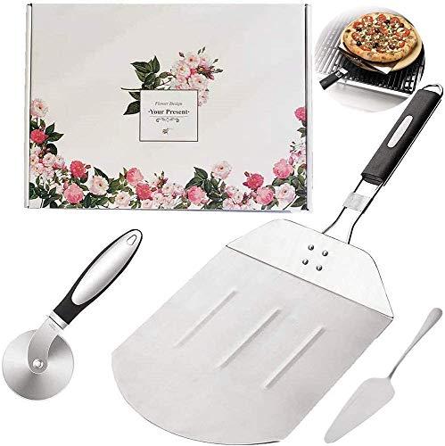 kokitea Major Pizzaschieber Anzug,Pizzaschaufel zum Backen von Pizza und Kuchen im Ofen & Grill,Verpackung von Geschenken
