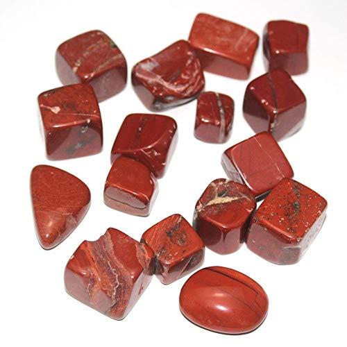 Ogquaton Paisajismo para acuarios Grava de Jaspe Rojo Natural Tanque de Peces de partículas Grandes con Piedras en Forma Piedra de Sangre de Pollo Piedra en Bruto Portátil y útil